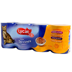 Patee chats Lycat Les Terrines 4x400g