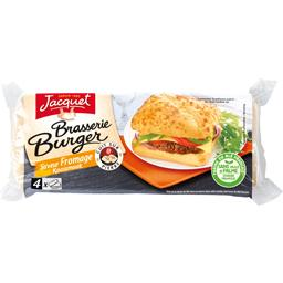 Jacquet brasserie burger fromage x4 -280g