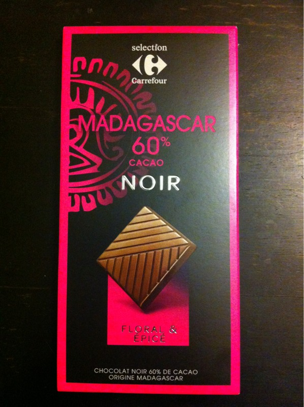 Chocolat noir de Madagascar Carrefour Selection