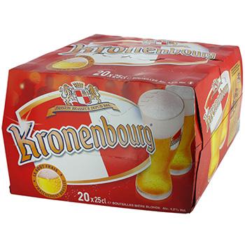 Pack de 20 kronenbourg prix
