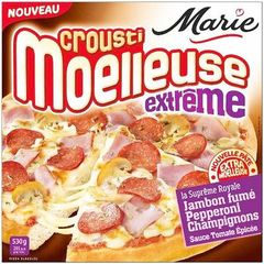Pizza Crousti Moelleuse Extreme supreme royale MARIE, 530g