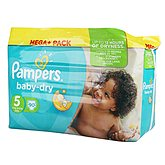 Couches Pampers Baby Dry T5 Méga + x90