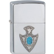 Zippo Briquet #250 Blooming Turquoise