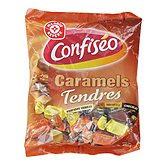 Caramels tendres Confiseo 4 parfums 450g