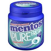 Chewing gum parfum menthol eucalyptus Pure Fresh Bottle MENTOS, 50 dragees, 100g