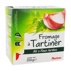 fromage ail & fines herbes auchan 250g