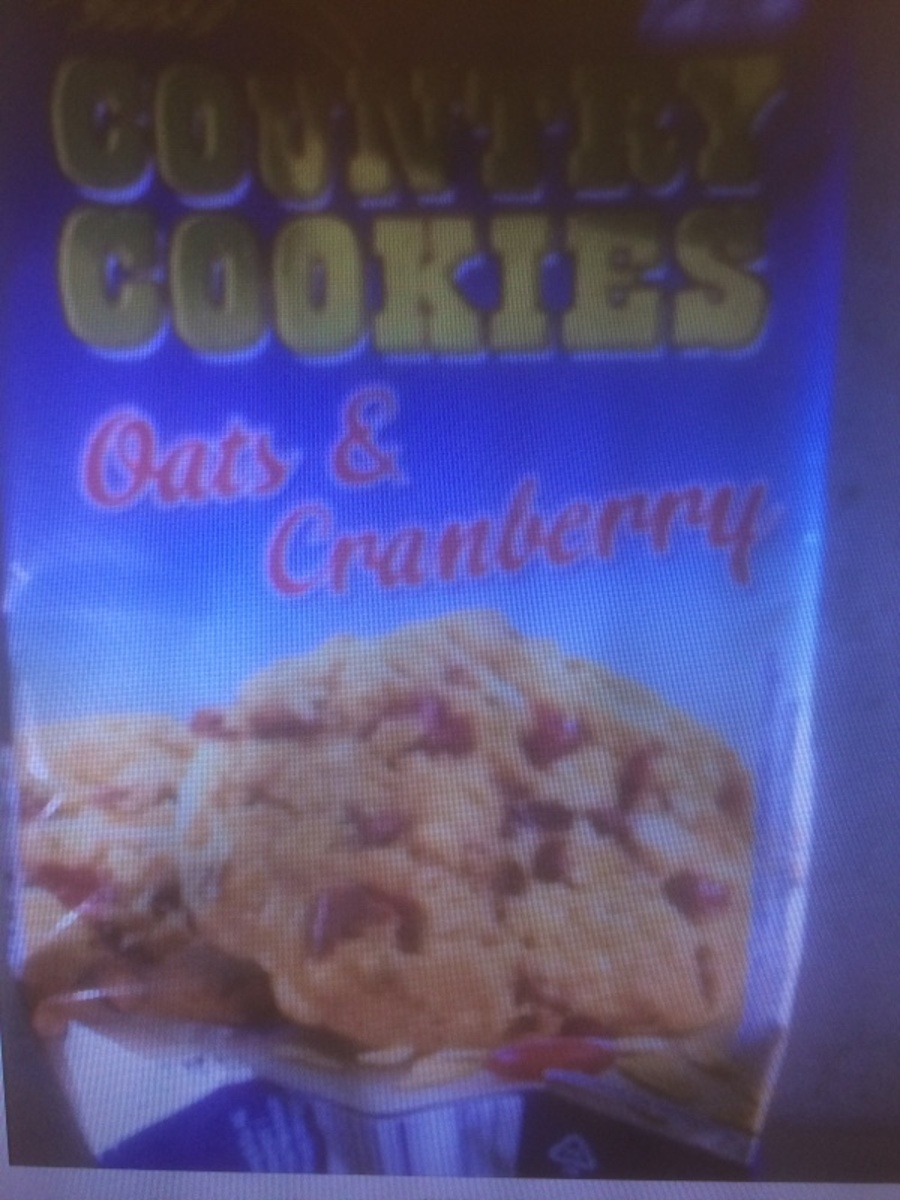 Country Cookies Oats and Cranberry
