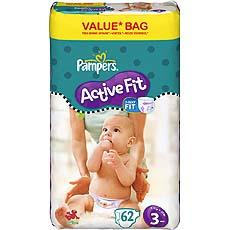 Pampers active fit drugbag midi change x62 taille 3