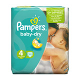 couche baby dry x25 taille 4 pampers