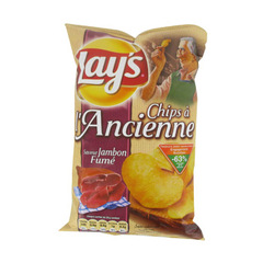 Lay's chips a l'ancienne saveur jambon fume 135g