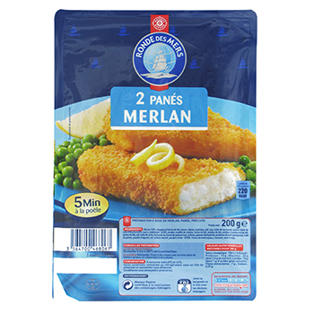 Poissons panes Ronde des Mers Merlan 2x100g