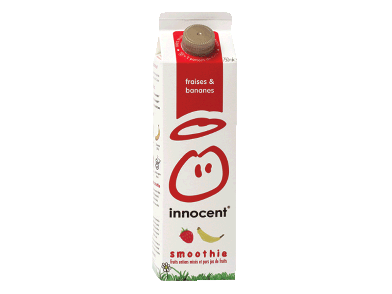 Innocent smoothie fraise/banane 75cl