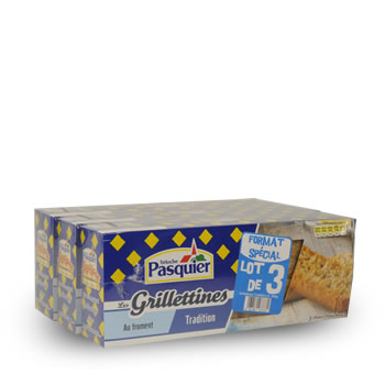 Grilletines Pasquier Tradition 3x250g