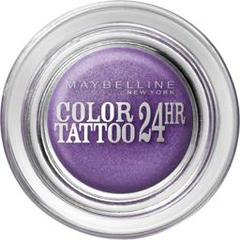 Gemey Maybelline, Eyestudio - Color Tattoo 24hr Endless Purple 15, le fard a paupieres