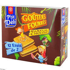 Biscuits P'tit Deli Gouters Fourres chocolat 450g