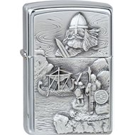 Zippo briquet, Viking Spirit of the Vikings, 3-D Emblème, Chromé