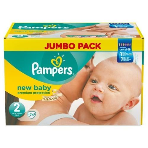 couches new baby taille 2 mini jumbo pack x74 pampers