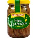 Filets d'anchois a l'huile d'olive, le pot de 200g