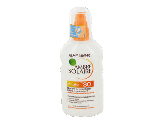 Garnier Ambre solaire, UV Sensitive Spray protecteur Peaux sensibles au soleil, haute protection 30 FPS, le spray de 200 ml