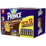 Biscuits chocolat Prince Lu 12x300g