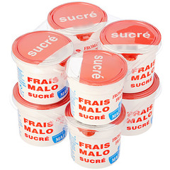 Fromage frais nature sucre MALO, 40%MG, 8x100g
