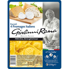 Pates fraiches Giovanni Rana Ravioli 4 fromages italien 250g