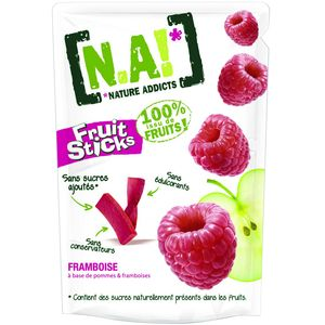 Pepites Fruit Sticks framboise N.A!, 40g