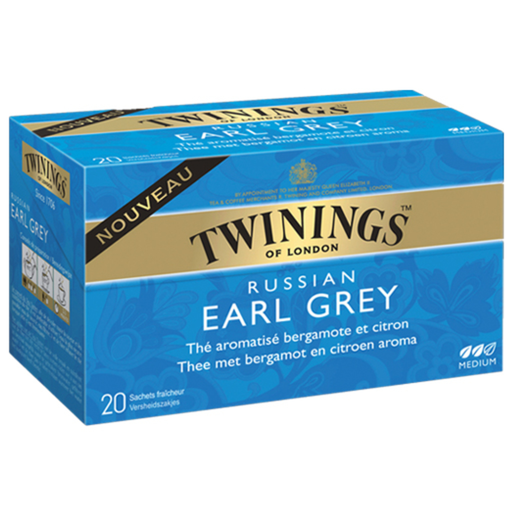 The Russian Earl Grey TWININGS, 20 sachets, 30g
