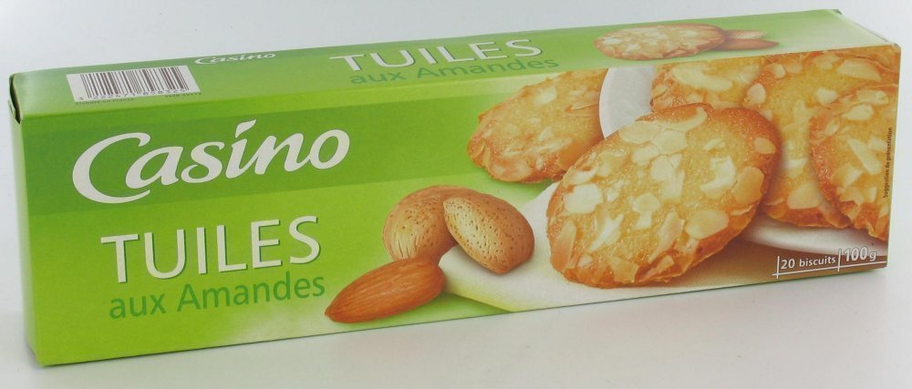 Biscuits tuiles aux amandes
