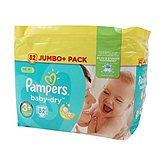 Couches Pampers Baby Dry T3 + Jumbo x82