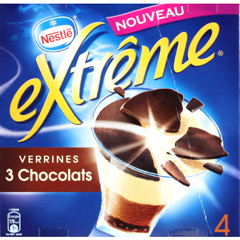 Extreme verrine 3 chocolats x 4 480 ml