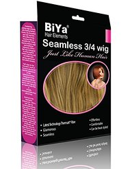 BiYa Hair Elements 3/4 Extensions en cheveux Demi Perruque Bob style, Dirty Blond 9p27