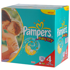 Couches Pampers Baby Dry T4 7-18kg x120