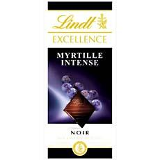 Lindt, Tablette excellence noir myrtille, la tablette de 100 gr