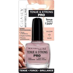 gemey maybelline tenue strong pro vernis a ongles rose poudre 130 le vernis a ongles. Black Bedroom Furniture Sets. Home Design Ideas