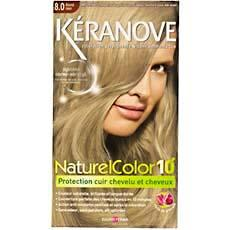 coloration permanente 10 minutes keranove blond clair n 80 - Coloration Keranove
