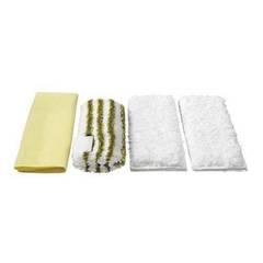 Kärcher Set of 4 Premium Velour Micro-Fibre Cleaning Cloths For Steam Cleaners - Specifically Designed For Bathroom...