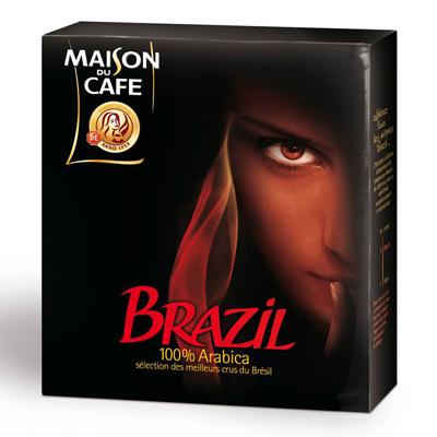 Cafe moulu maison du cafe brazil 2x250g tous les for Maison du cafe andrezieux