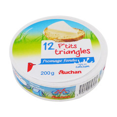 12 P'tits trianges de Fromage fondu Riche en calcium.
