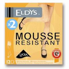 Eldys Collants mousse résistant noir T1 le lot de 2