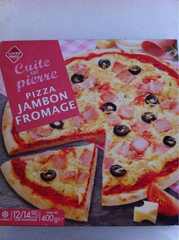 Pizza jambon fromage 400g