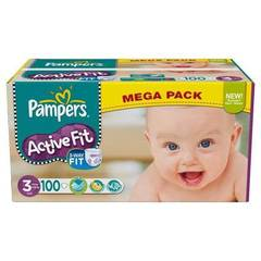 Pampers active fit mega midi change x100 taille3
