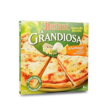 pizza surgelee la grandiosa 4 formaggi tous les produits pizzas quiches galettes prixing. Black Bedroom Furniture Sets. Home Design Ideas