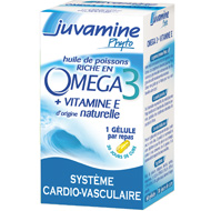 Juvamine phyto Omega 3, Formule + Concentree, Sante cardio-vasculaire, 45 cap...