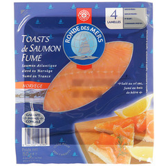Saumon Ronde des Mers Tranches pour toasts 80g