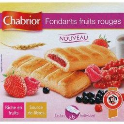 Fondants fruits rouges, x6 sachets individuels, la boite, 162g