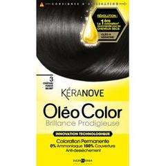 Keranove, Oleocolor 03 chatain fonce secret, la boite