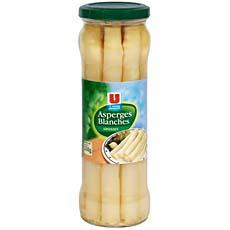 Grosses asperges blanches U, 205g