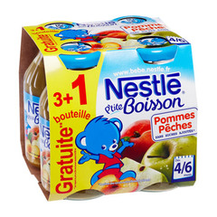Nestle jus de fruits pommes peches 3x20cl