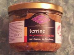 Terrine de porc au piment d'espelette, Label Rouge